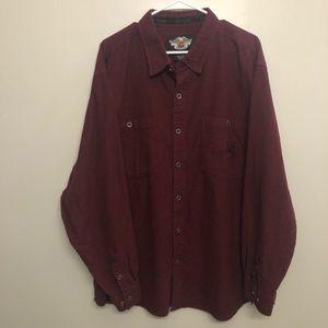 Harley Davidson Button down shirt maroon 3XL